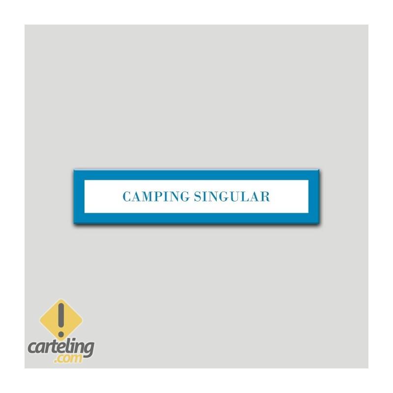 Placa distintivo Campamentos de Turismo- Especialidad - Camping Singular.Andalucía.
