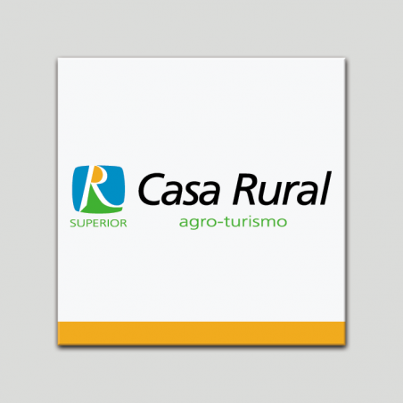 Placa distintivo - Casa Rural - Agro-turismo-Superior - Andalucía