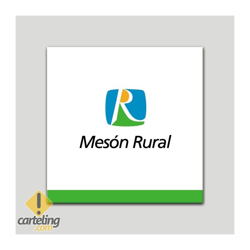Placa distintivo - Mesón Rural - Andalucía