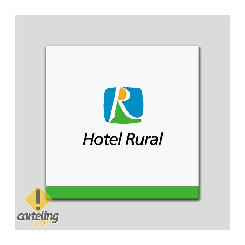 Placa distintivo - Hotel Rural - Andalucía