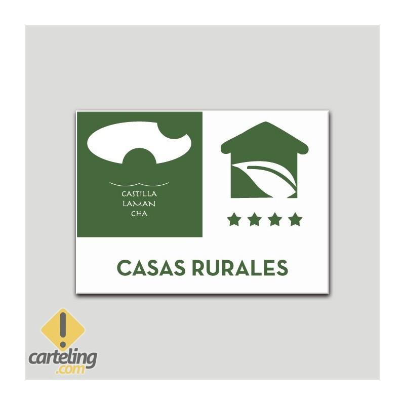 Placa distintivo Casa Rural - Cuatro estrellas - Castilla y la Mancha.