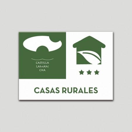 Placa distintivo Casa Rural - Tres estrellas - Castilla y la Mancha.