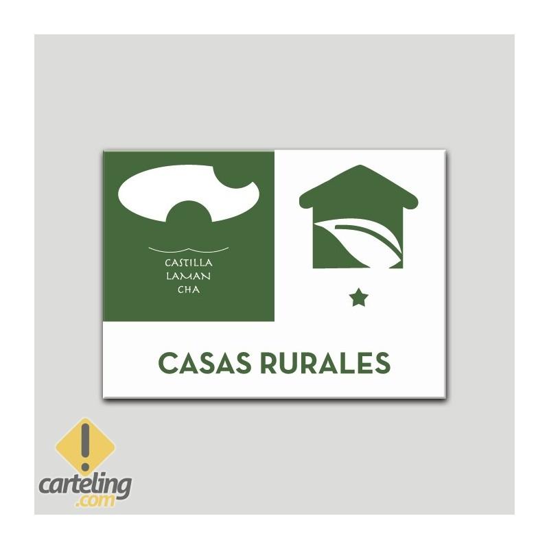 Placa distintivo Casa Rural - Uno estrellas - Castilla y la Mancha.