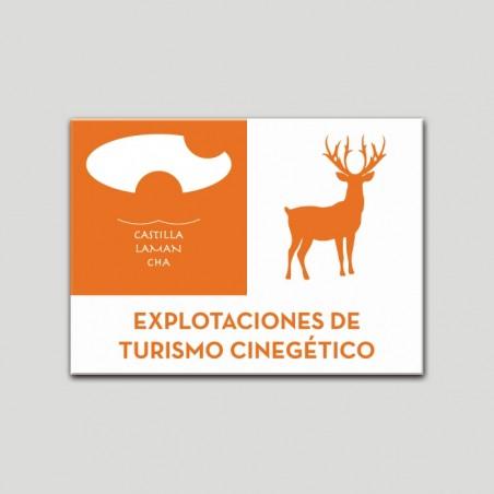 Placa distintivo Explotaciones de turismo - Cinegético - Castilla y la Mancha.