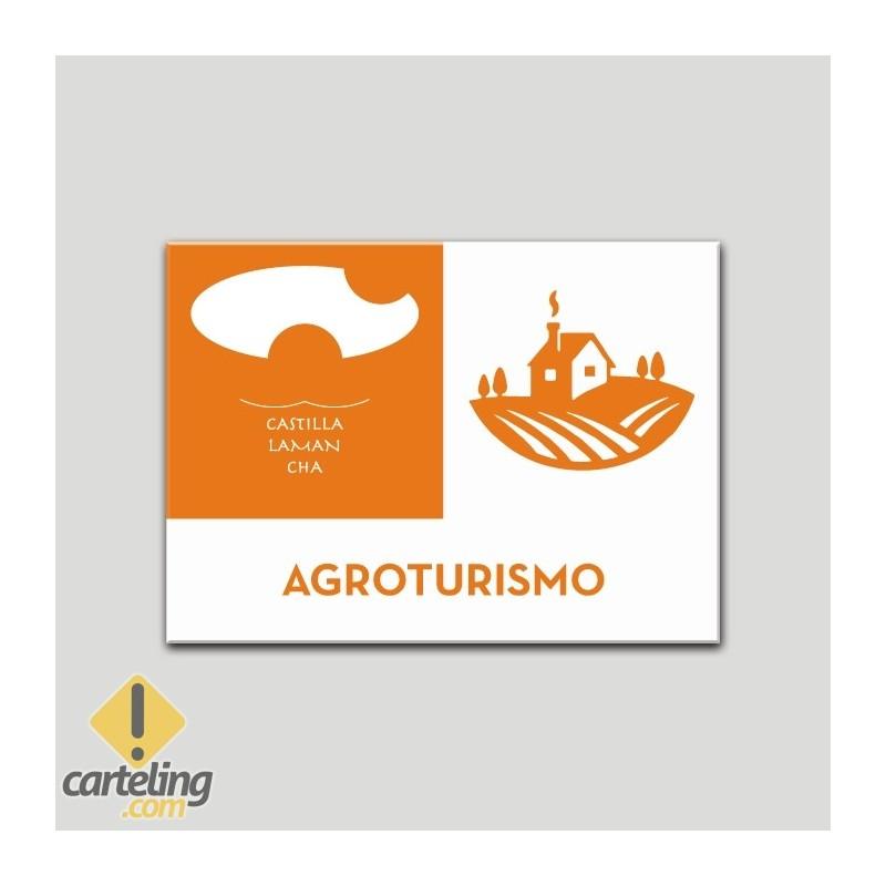 Placa distintivo Explotaciones de turismo - Agroturismo - Castilla y la Mancha.