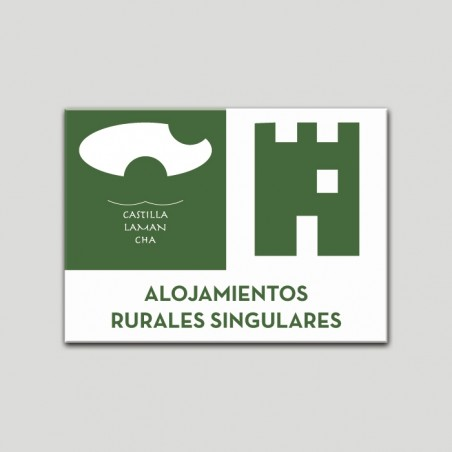 Placa distintivo Alojamientos rurales  - Singulares - Castilla y la Mancha.