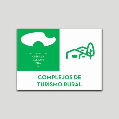 Placa distintivo Complejos de Turismo Rural -  Castilla y la Mancha.