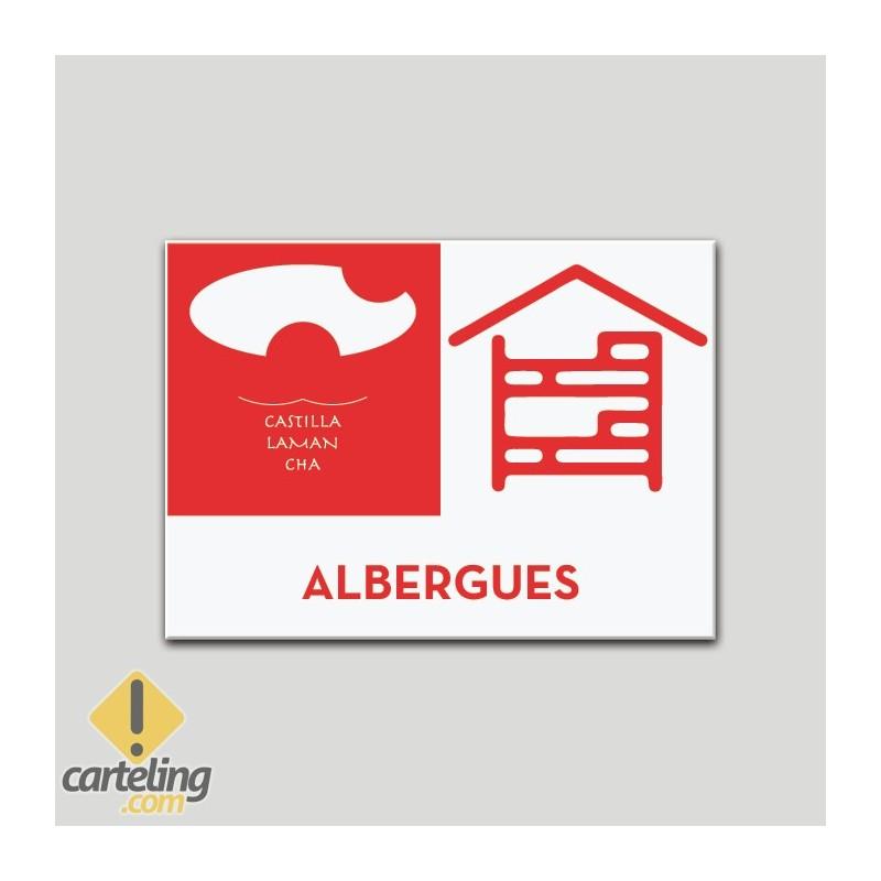 Placa distintivo - Albergue - Castilla y la Mancha.