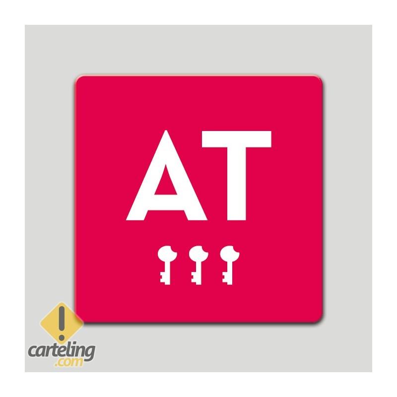 Placa distintivo - Apartamento turistico - Tres llave- Castilla y la Mancha
