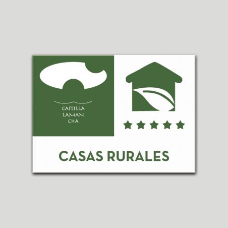 Placa distintivo Casa Rural - Cinco estrellas - Castilla y la Mancha.