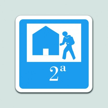 Placa distintivo albergue turístico segunda categoría - Galicia