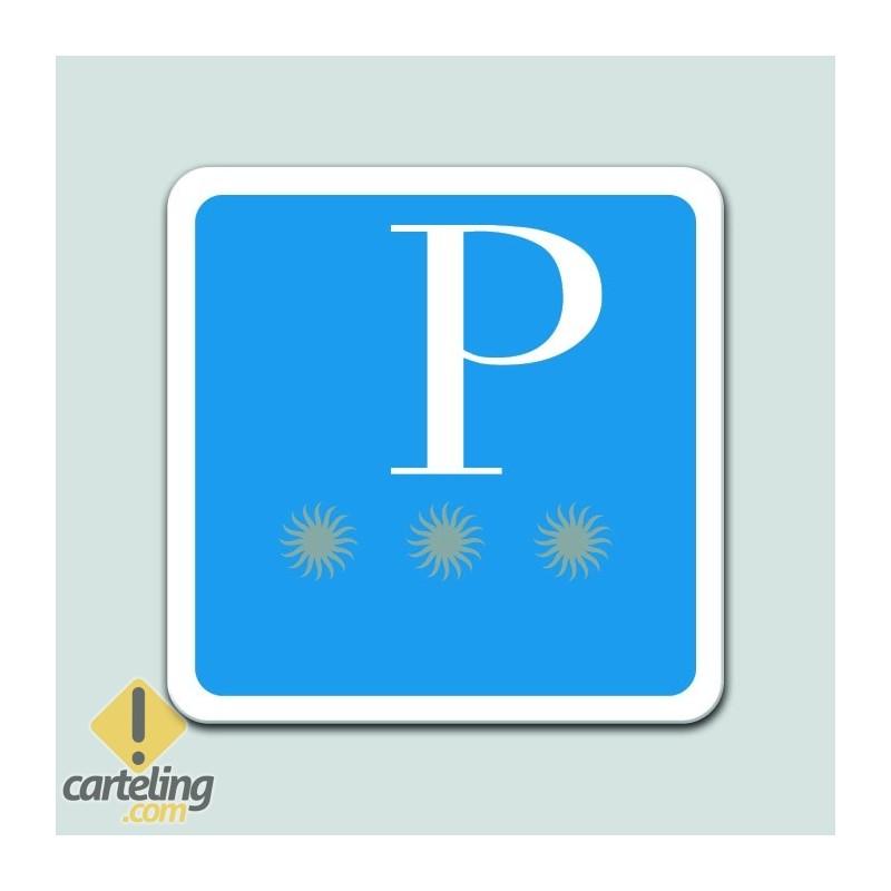 Placa distintivo Pensión tres estrellas - Galicia