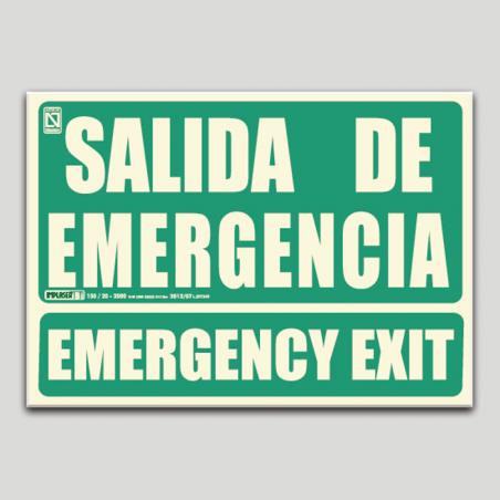 Salida de emergencia - Emergency Exit