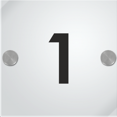 Placa de números per a portes a metacrilat 5mm