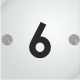 Number plate for 5mm methacrylate doors