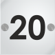 Placa de números para puertas en metacrilato 5mm