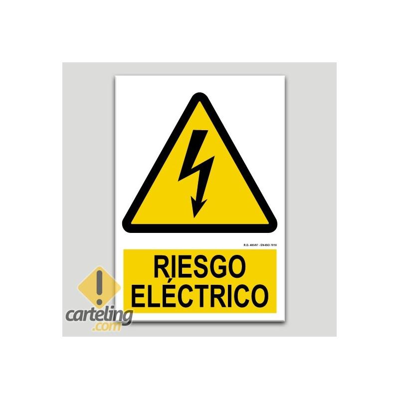 Riesgo eléctrico adhesivo A5 210x105mm