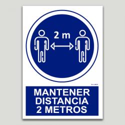 Obligatori mantenir distància 2 metres
