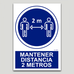 Obligatorio mantener distancia 2 metros