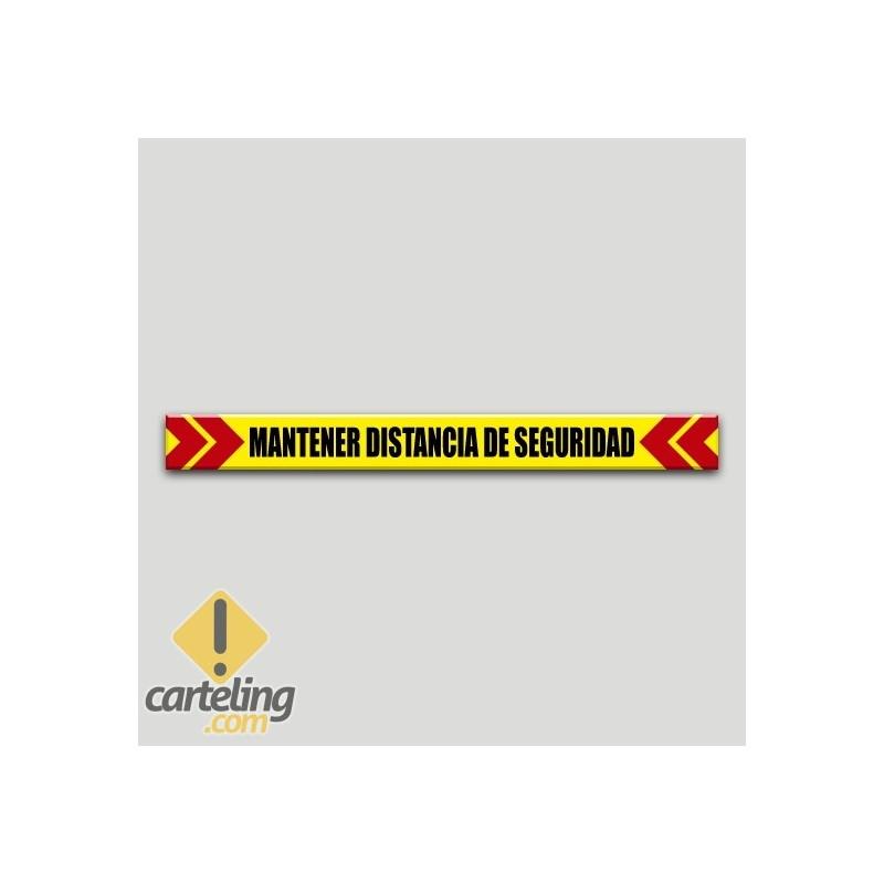 Mantener distancia de seguridad (Adhesivo rugoso)
