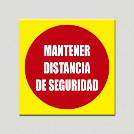 Keep safe distance  (Rough sticker)