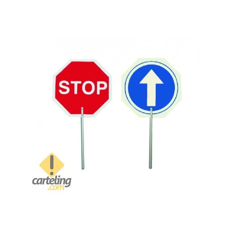 Paleta STOP / Dirección obligatoria