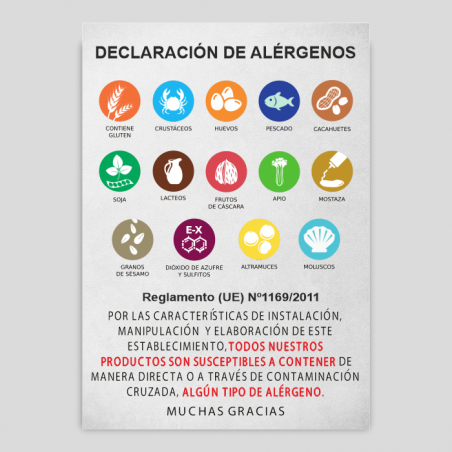 Cartell Declaració de No Al·lergògens