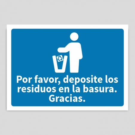 Depositar residuos en la basura papel-cartón