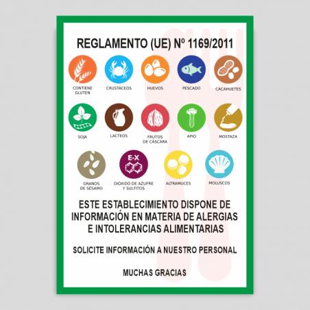 Cartell Declaració d'Al·lergògens