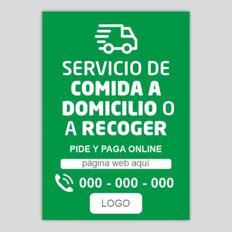 Reparto a domicilio - recoger en tienda - información - Verde