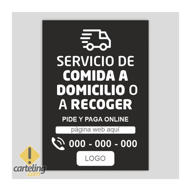 Repartiment a domicili - recollir en botiga - informació - Negre