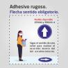 Flux de clients - sentit obligatori - Adhesiu rugós sòl