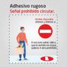 Flujo de clientes - prohibido el paso - Adhesivo rugoso suelo