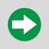 Flecha Verde Suelo (Adhesivo rugoso)