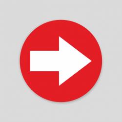 Flecha rojo Suelo (Adhesivo rugoso)