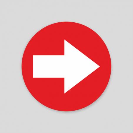 Fletxa vermell Sòl (Adhesiu rugós)