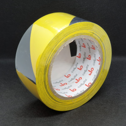 Floor marking tape 50 mm x 33 m Black Yellow