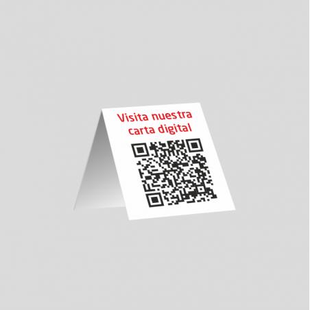 Codi QR Carta Menú - taula - PVC 1mm (plàstic)