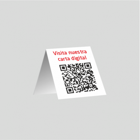 Código QR Carta Menú - mesa - PVC 1mm (plástico)