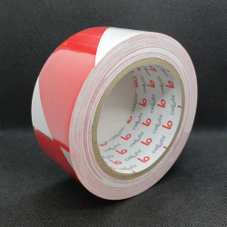 Floor marking tape 50 mm x 33 m Red/White