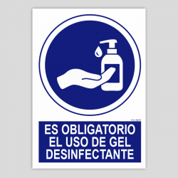 Es obligatorio el uso de gel desinfectante