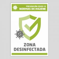 Zona desinfectada (Normas de higiene)