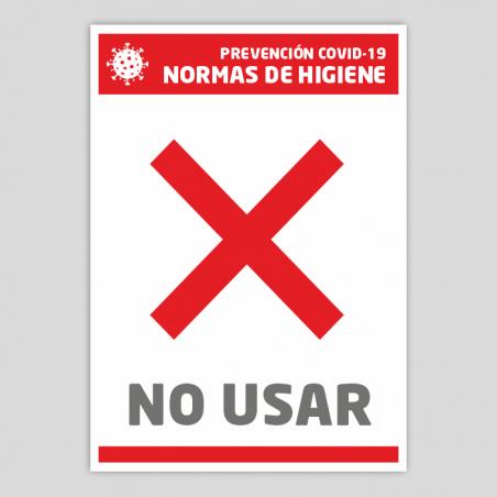 No utilitzar (Normes d'higiene)