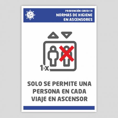 Mesures d'higiene en ascensors - COVID-19