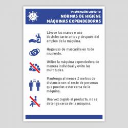 Medidas de higiene en máquinas expendedoras - COVID19