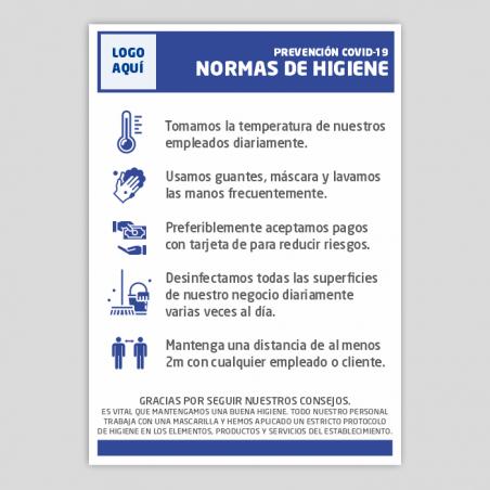 Protocol mesures higiene establiments - Covid-19