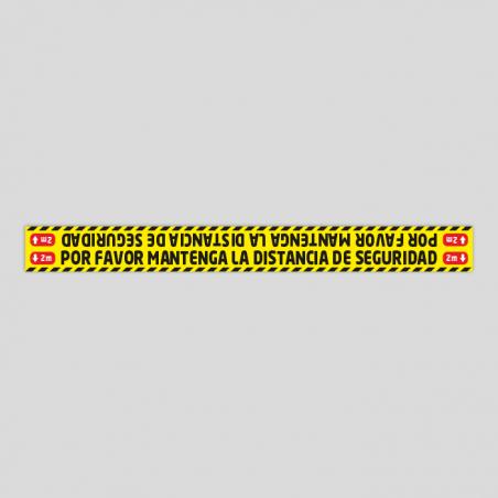 Distancia de seguridad (Adhesivo rugoso)