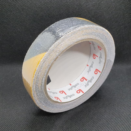 Anti-slip tape yellow black 25mm x 5m