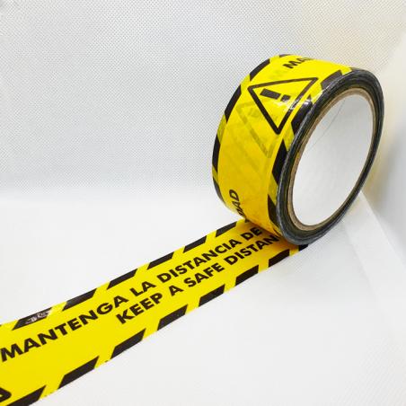 Cinta adhesiva Mantingui la Dsitancia de seguretat - Keep a Safe distance 48m x 6cm