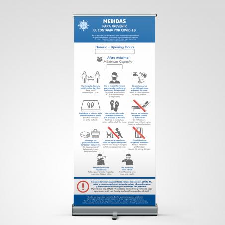Roll-Up COVID-19 Medidas para prevenir el contagio